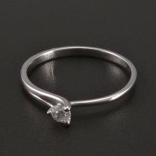 Weißgold-Ring- ein Diamant