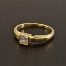 Gold Verlobungsring Zirkonia