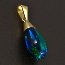 Opal-Anhänger-Gold 585