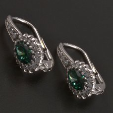 Weißgold-Ohrringe-Smaragd