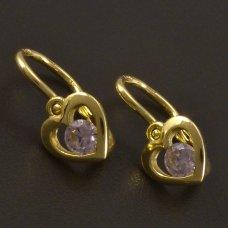 Goldene Ohrringe für Kinder