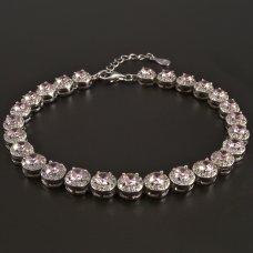 Silberarmband-Rosa-Zirkonia