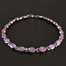 Opal-Armband-Silber