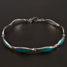 Silber-Armband-Grünopal