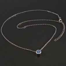 Kette-Silber-blau Zirkon