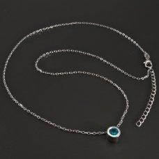 SilberKette- blaugrün Zirkon
