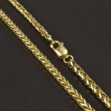 Gold 585-Kette-Zopf