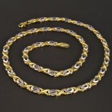 Gold-Collier gelb-weiß
