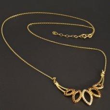 Gold-Collier mit Zirkonen