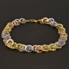 Armband-Gelbgold-Rotgold-Weißgold