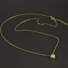 Goldkette mit Zirkon