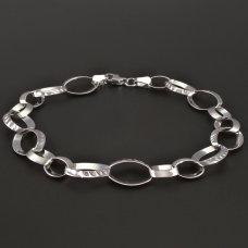 Weißgold-Armband 585
