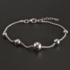 Silber-Armband mit Kugeln