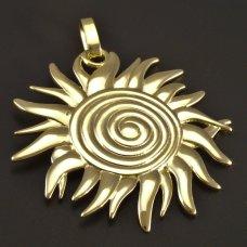 Sonne-massiver Goldanhänger