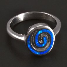 Silber-Ring-Opal
