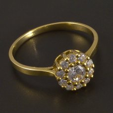 Gold-Ring-Zirkonia
