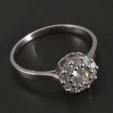 Weißgold-Ring-Zirkonia