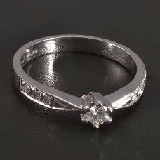 Weißgold-Ring  natürliche Diamanten