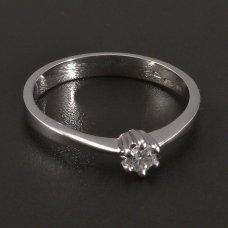Weißgold-Ring  natürlicher Diamant 3,0 mm