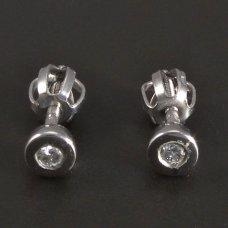 Weißgoldene Ohrringe Brillanten