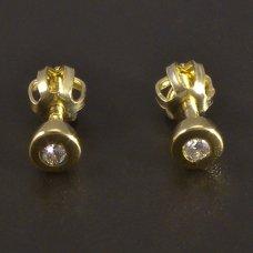 Goldene Ohrringe-Diamanten