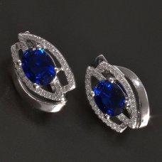Silber-Ohrringe-Saphir