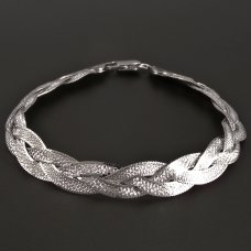 Zopfarmband-Silber