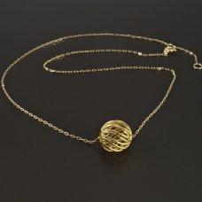 Goldkette mit Kugel