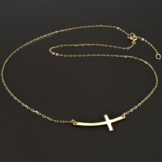 Gold-Halzkette-horizontale Kreuz