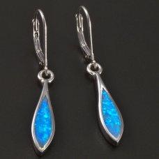 Silber-Ohrhänger-blau Opal