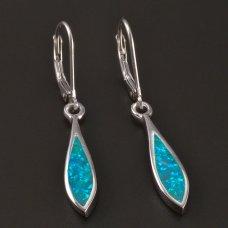 Silber-Ohrhänger-grün Opal