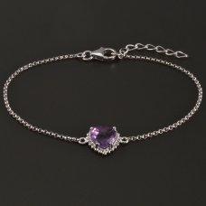 Silber-Armband-Amethyst