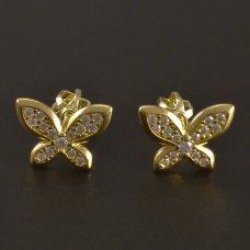 Ohrstecker in Gold Schmetterling