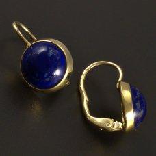 Lapis Lazuli in Goldohrringe