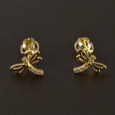 Libelle Ohrstecker Gold 585