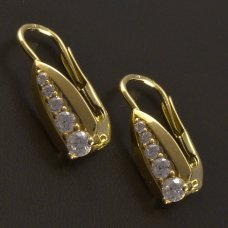 Goldene Ohrringe mit Zirkonia