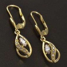 Gold-Ohrhänger mit Zirkon