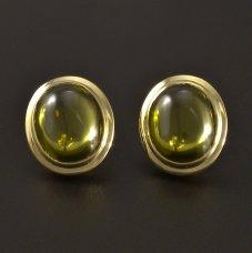 Ohrringe mit Olivin Gold 585