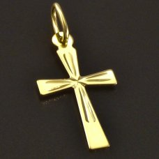 Goldener Anhänger-Kreuz